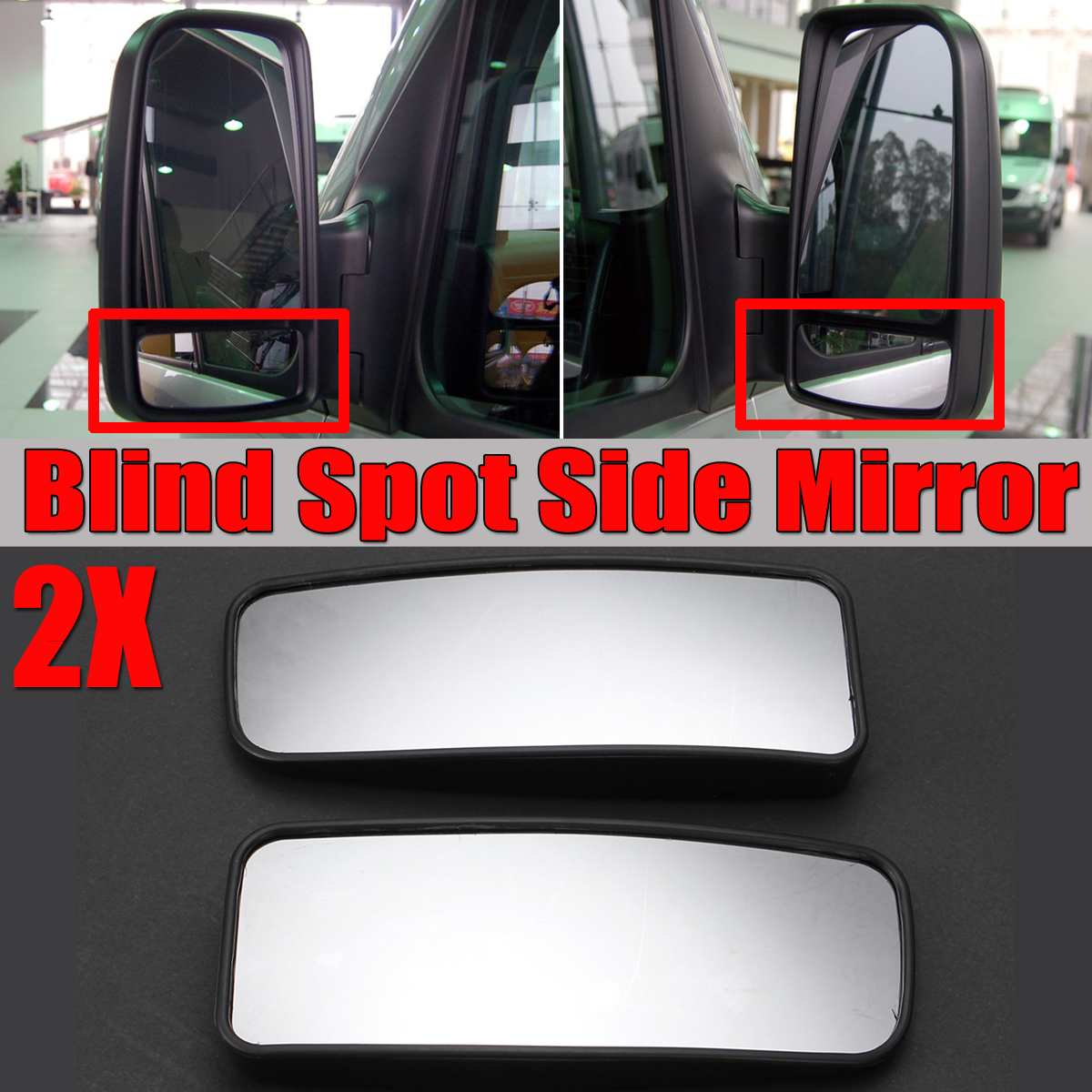 Car Door Wing Rearview Side Mirror Lower Glass Blind Spot For Dodge For Mercedes For Sprinter For Vans 2500 3500 2007+|Mirror & Covers|Automobiles & Motorcycles - title=