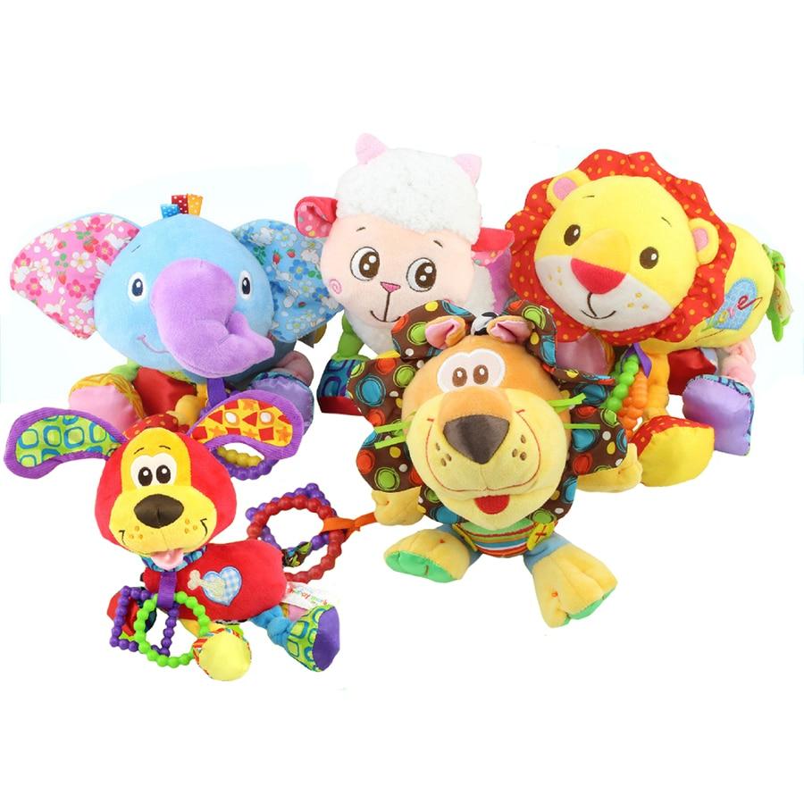 Ліжко-коляска підвісна плюшева вібрація Іграшка-брязкальце з прогулянкою для новонародженої дитини Подарунок багатофункціональна навчальна іграшка WJ149