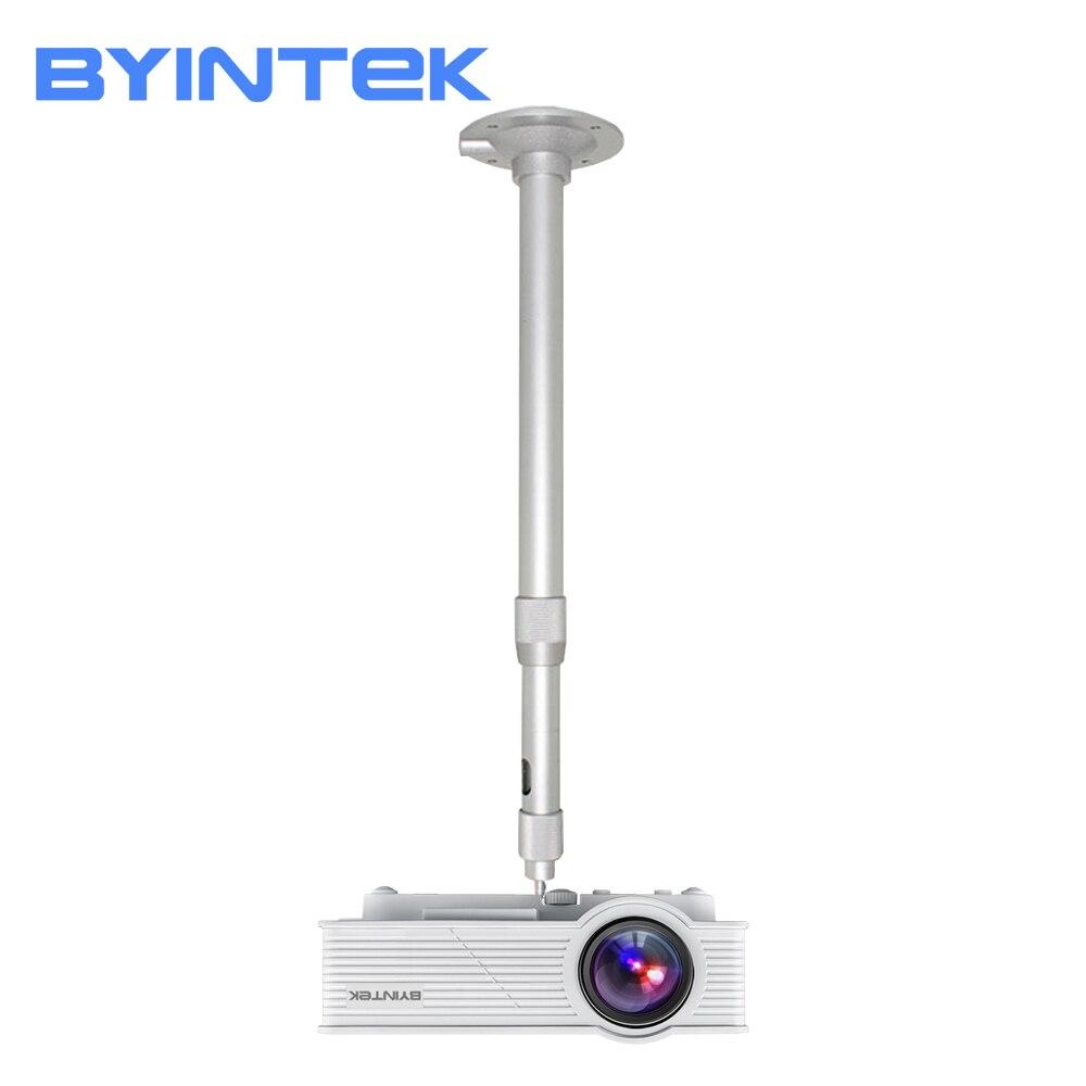 Byintek mini suporte de montagem no teto 20cm a 40cm ajustável para mini projetor céu gp70 k1 k2 k7 y2 ufo r7 r9 r15 lua m1080