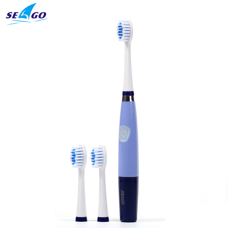 Seago Oral Hygiene Ultrasonic Sonic Electric toothbrush for adults 23000 micro-brushes per minute 3 brush heads  SG-915 ABS/TBE
