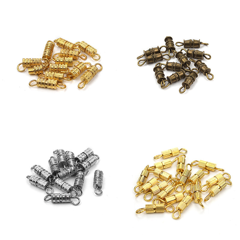 10pcs/lot  Fashion Gold Silver Rhodium Plated Screw Clasps Buckle DIY Jewelry Accessories  For Bracelet Necklace10pcs/lot  Fashion Gold Silver Rhodium Plated Screw Clasps Buckle DIY Jewelry Accessories  For Bracelet Necklace