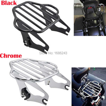 Moto Two Up Luggage Rack Sissy Bar Luggage Rack Fit For Harley Touring Road King FLHX FLHXS FLTRX 2009-2016