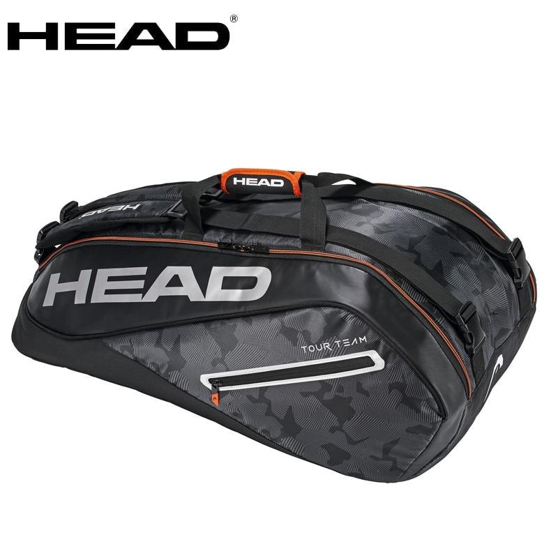 Genuine HEAD tour team tennis bag for men women Backpack for 6 9 racket