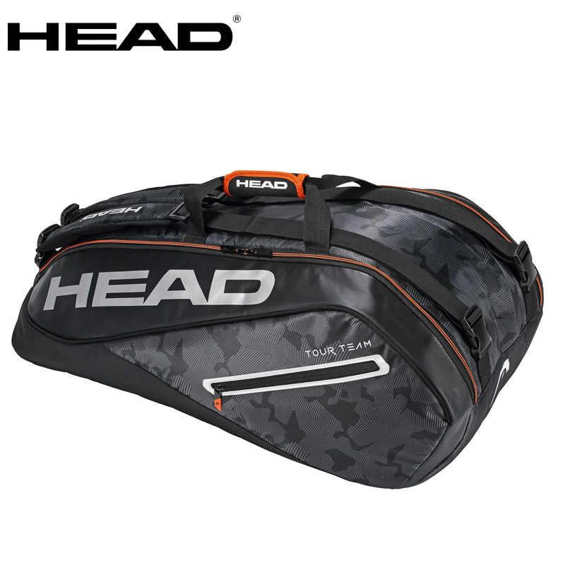 408f9cdd6ea 2018 Genuine HEAD tour team tennis bag for men women Backpack for 6-9 racket