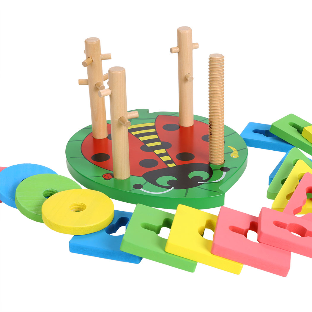 Brand Baby Toys Wooden Toy Geometric Shaped Sorter Color Block Early ...