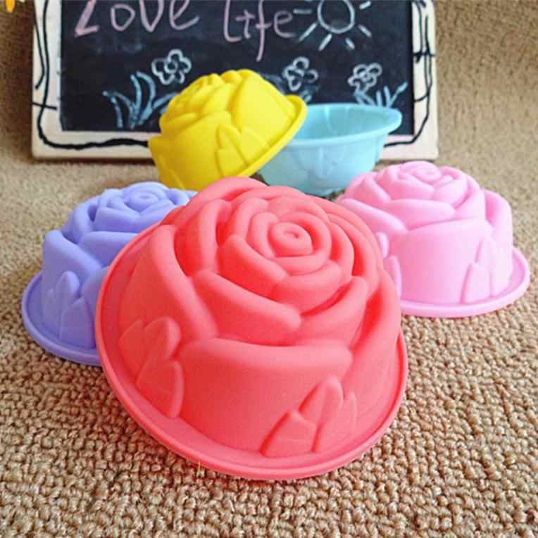 ซิลิโคนแม่พิมพ์เค้ก8เซนติเมตรเกาหลีพุดดิ้งเค้กมัฟฟินถ้วยเพิ่มขึ้นวุ้นแม่พิมพ์ไม่ติดสีสุ่ม