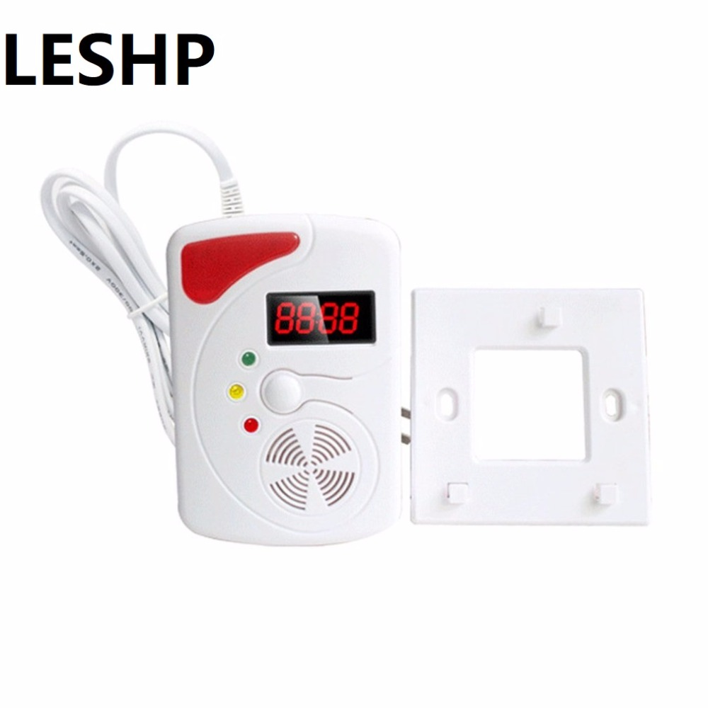 Sincere Leshp 433mhz High Sensitivity Smart Voice Gas Leakage Detector Digital Display Lpg Detecting Device Home Security Alarm Sensor Security Alarm