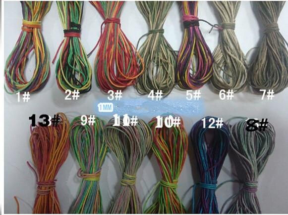 Kleur Veel Kleur : 13 kleuren veel 1mm x 130 m polijsten gewaxt henneptouw diy