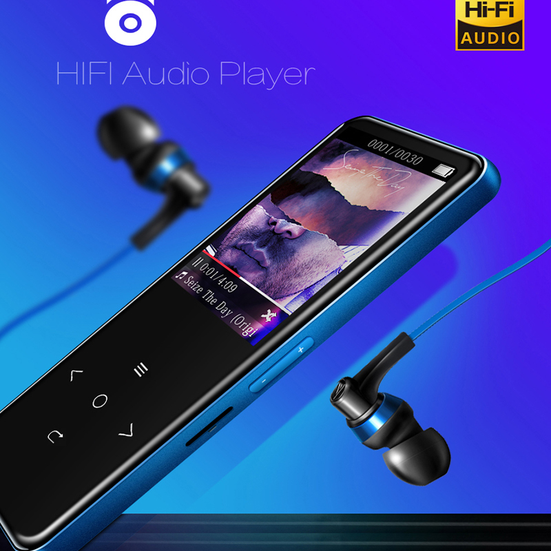 Bluetooth Touch Screen MP3 Player 8GB HIFI Lossless Sound Music Players Quick Charging MP3 Support Record Vedio Ebook FM Radio ...