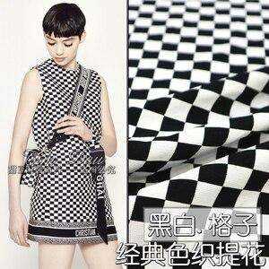 145 cm plaid jacquard stof pak jurk jacquard stof garen geverfd jacquard jurk stof groothandel doek
