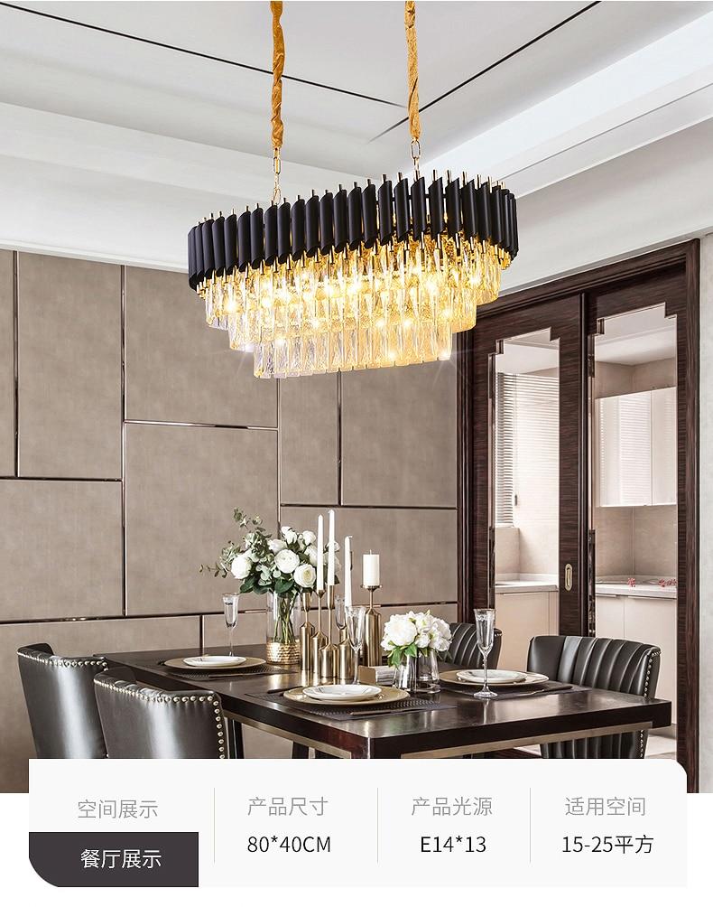 2019 New Arrival Modern Crystal Pendant Lights 220V nordic light lamparas de techo colgante moderna for Living room parlor study