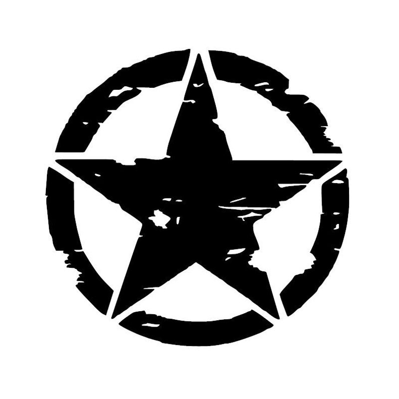 Five-pointed Star Car Sticker Car Styling Stickers Vinyl Decal Personality Waterproof Accessories For Jeep Focus 2