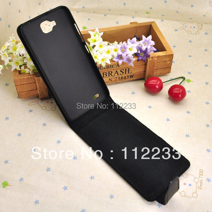 Genuine Leather Case For Fly IQ446 Magic Fluctuation Open Cover Luxury Mobile Phone bag Black