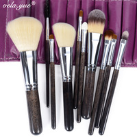 Professional Makeup Brushes Set 12pcs Set Makeup Tools Kit High Quality Sable Hair Free Shipping