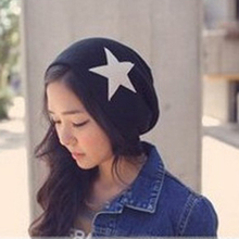 Women Men Pentacle Star Warm Skull Beanie Hip-Hop Knit Cap Crochet Cuff Hat