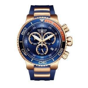 Image 4 - Reef Tijger/Rt Top Merk Luxe Blauwe Sport Horloge Voor Mannen Rose Goud Waterdichte Horloges Rubber Band Relogio Masculino RGA3168