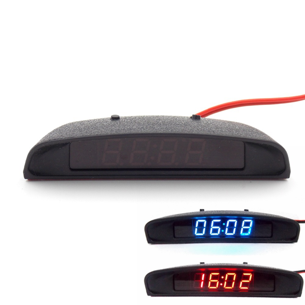 12V Original Car Interior Trim Appearance 3 In 1 Car Clock Thermometer and Voltage font b