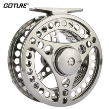 Goture 3/4 5/6 7/8 9/10 WT Fly Fishing Reel CNC Machine Fly Wheel Large Arbor Waterproof Fishing Fly Reel Coil with Bag