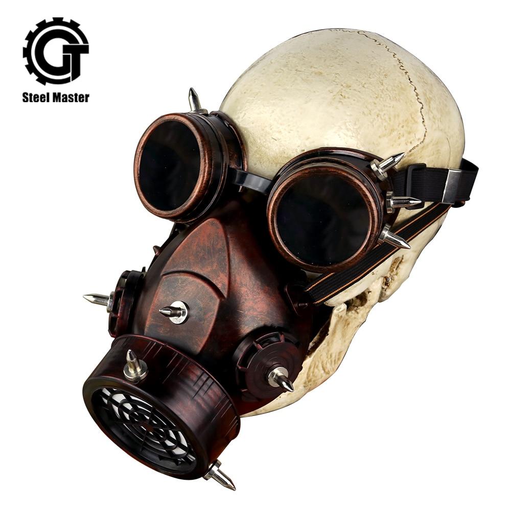 Maske Cosplay Military Gläser Atemschutz Punk Maske Retro Kostüme Zubehör Rock Männer Punk Frauen Um Das KöRpergewicht Zu Reduzieren Und Das Leben Zu VerläNgern Masken