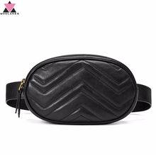 Ms. Wholikes Multifunkcionális Pocket márka luxus bőr táska piros fekete tétel Szervező Új divat Minőségi Pu Waist Bag