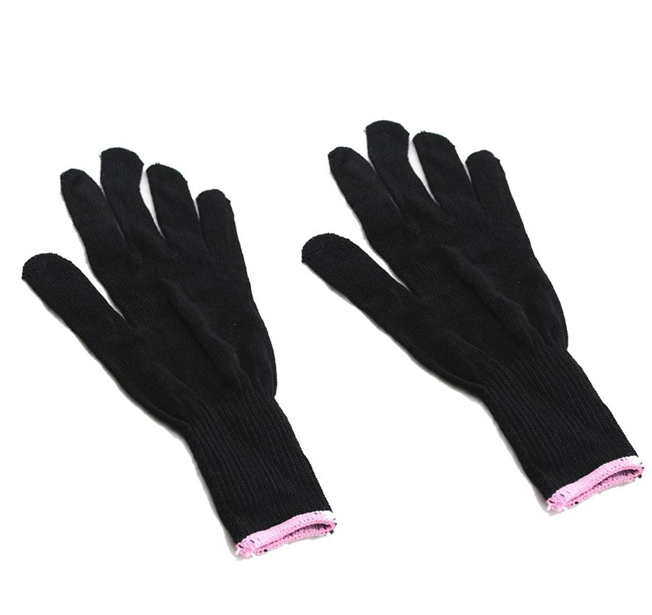 Black Barber Hairdressing Straighteners Curling Tongs Wands curling iron styling accessories Heat Resistant Protective Glove image