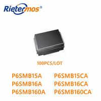 100 sztuk małych i średnich firm P6SMB15A P6SMB15CA P6SMB160A P6SMB160CA P6SMB16A P6SMB16CA DO-214AA wysokiej jakości