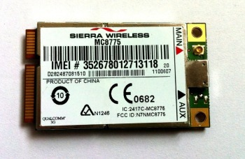 Wireless Adapter Card for UNLOCKED Sierra MC8775 3G WWAN HSPA GSM GPRS EDGE MINI PCI-E Module