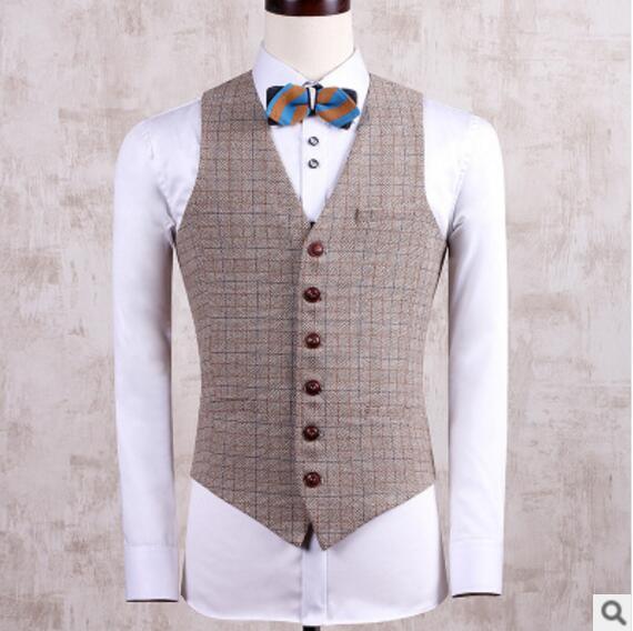 CH. KWOK costume gilet hommes veste sans manches robe formelle Vintage Tweed gilet mode printemps automne grande taille 3XL 4XL gilet