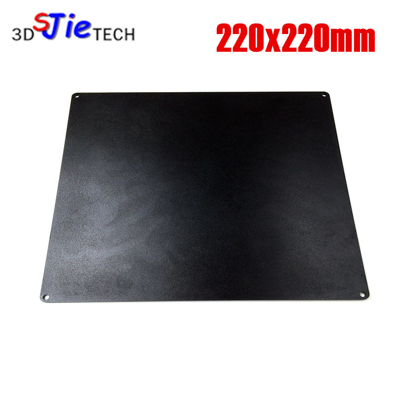 219x219mm 3D Printer Aluminum Build Plate For Prusa I3 220mm Heated Bed 3mm Thick For MK2a MK2b Wanhao Anet A8 3D Printer Black