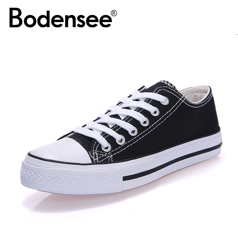 BODENSEE Women Canvas Shoes Women FashionSummer Casual Sneakers Women Shoes zapa Woman Vulcanize Shoes