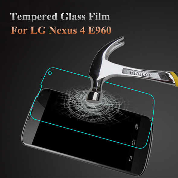 Verre Trempe Pelicula De Vidro Nexus 4 Screen Protector Tempered Kaca Cover Guard Protection Film untuk LG Google E960 Nexus 4