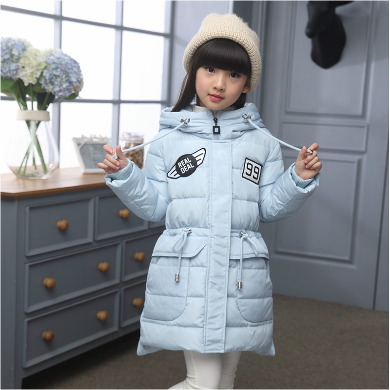8e2e6deb04c4 Down Jacket for Girl 2016 New Winter Coat Girl Princess Down Jackets Kids  for Teenage Girls Outerwear 7 15 Years-in Down   Parkas from Mother   Kids