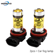 2pcs 1200Lm H8 H11 LED Car Lights LED Bulbs 9005 HB3 9006 HB4 Golden Daytime Running Lights DRL Fog Light 3000K 12V Driving Lamp eemrke cob angel eyes drl for toyota corolla fog lights h11 55w halogen bulbs led daytime running lights kits