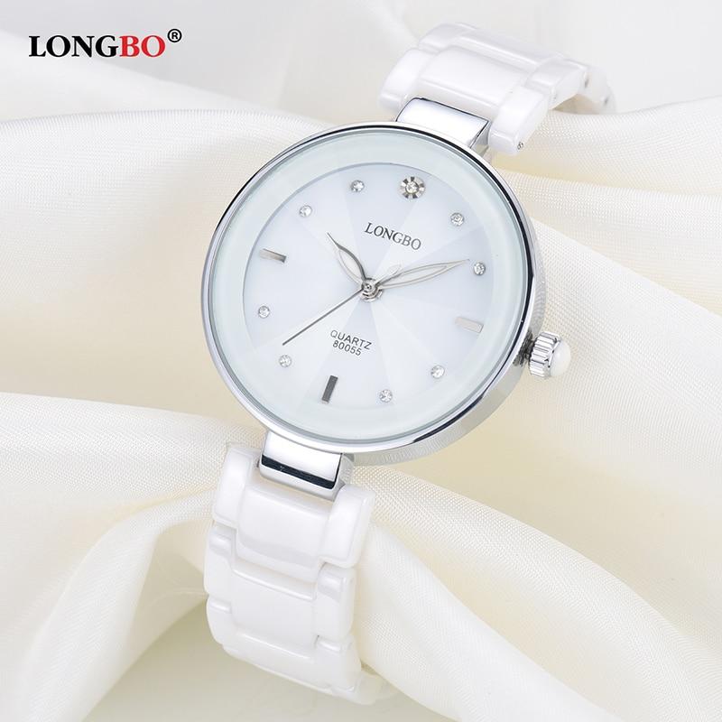 NEW Fashion Longbo Brand Women Luxury Watches Top pink Ceramic Quartz Watch Ladies Casual Simple Waterproof Wristwatch For Woman