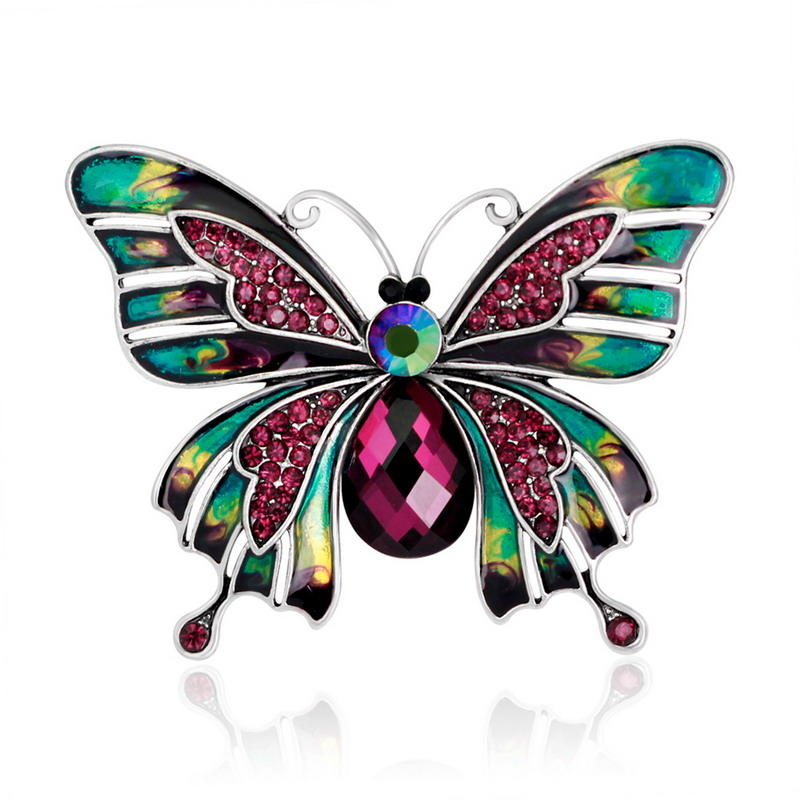Vintage Jewelry Large Enamel Butterfly Brooches Brooch Wedding Brooch Insect Hijab Pin Brooches