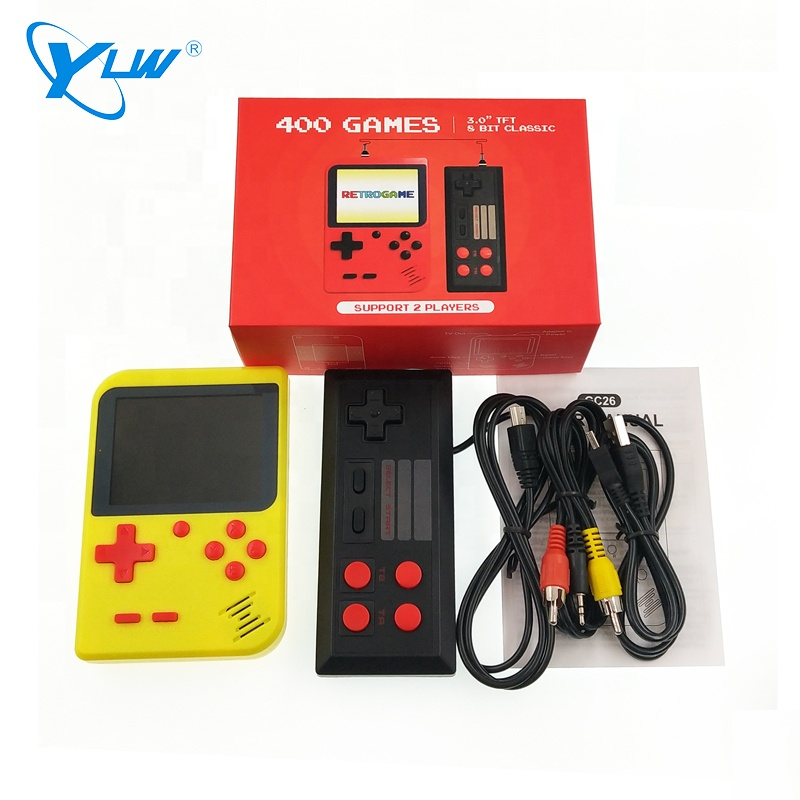Image 4 - for gameboy portable handheld console built in 400 retro games support 2 players TV console-in Handheld Game Players from Consumer Electronics