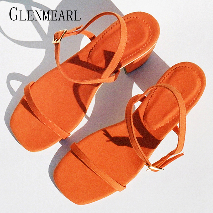 2019Rome Summer High Heel Wome Sandaler Skor Plus Storlek Tjock Heel Fisk Öppna Toe Party Skor Pumps För Women Strap High Shoes38