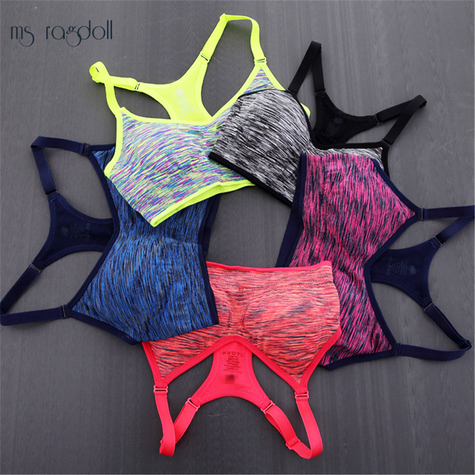 Ms Ragdoll Women Fitness Yoga Sports Bra Running Gym Adjustable Spaghetti Straps Padded Top Seamless Top Athletic Fitness Vest ragdoll куртка