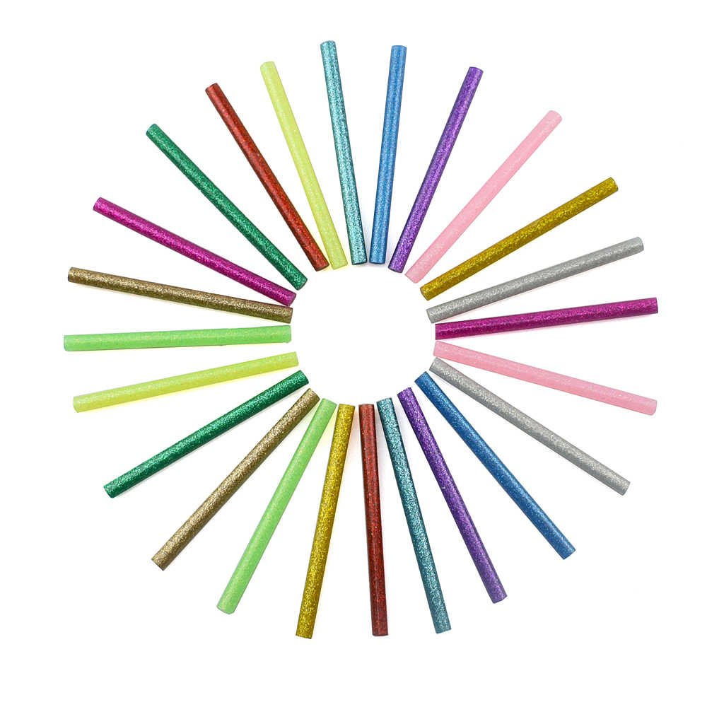 NEWACALOX 120 قطعة/الوحدة الملونة صمغ يسيح بالحرارة العصي 7 مللي متر ل مسدس الغراء عالية اللزوجة لاصق أداة إصلاح لتقوم بها بنفسك الفن الحرفية أداة اليد