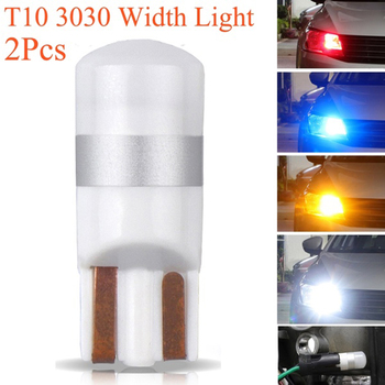 Lámpara Interior de coche, 2 piezas, Plat E T10 LED W5W 3030 SMD, Bombilla de lectura 3D, cerámica, luz de ancho de coche