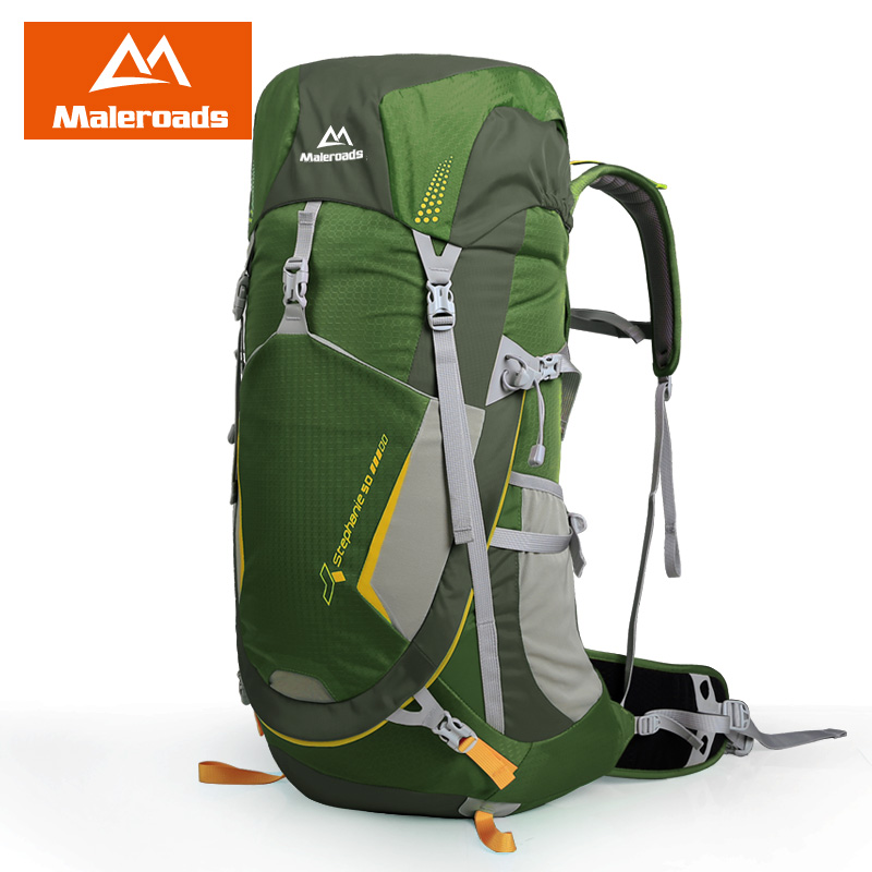 Maleroads Professional 50L Outdoor Camping Hiking Backpack Travel Mochilas Sport Mountain Climbing Bags Pack For Men Women 2017