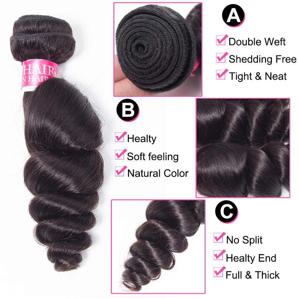 Красота благодати бразильский свободная волна человека пучки волос цельнокроеное платье натуральный Цвет Remy Инструменты для завивки волос 10-26 дюйм(ов) Бесплатная доставка