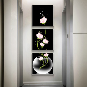 3 Panels Canavs Painting Flowe