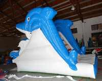 New design dolphin slide inflatable water slide inflatable pool slide