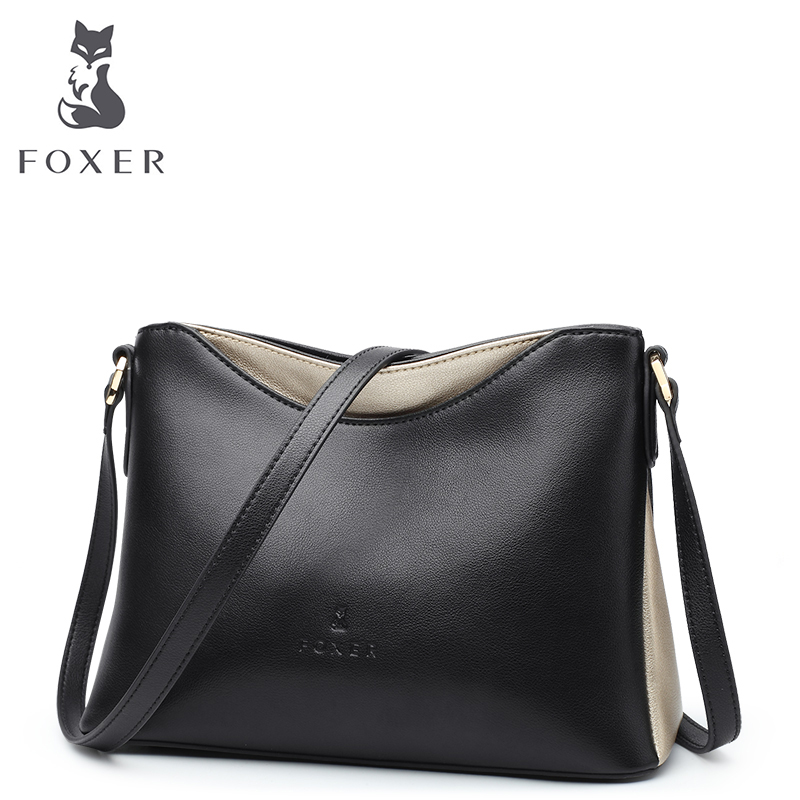FOXER Women Leather Crossbody Bag Shoulder Bags Classic Messenger Bags Fashion Lady HandBags Lady High Quality