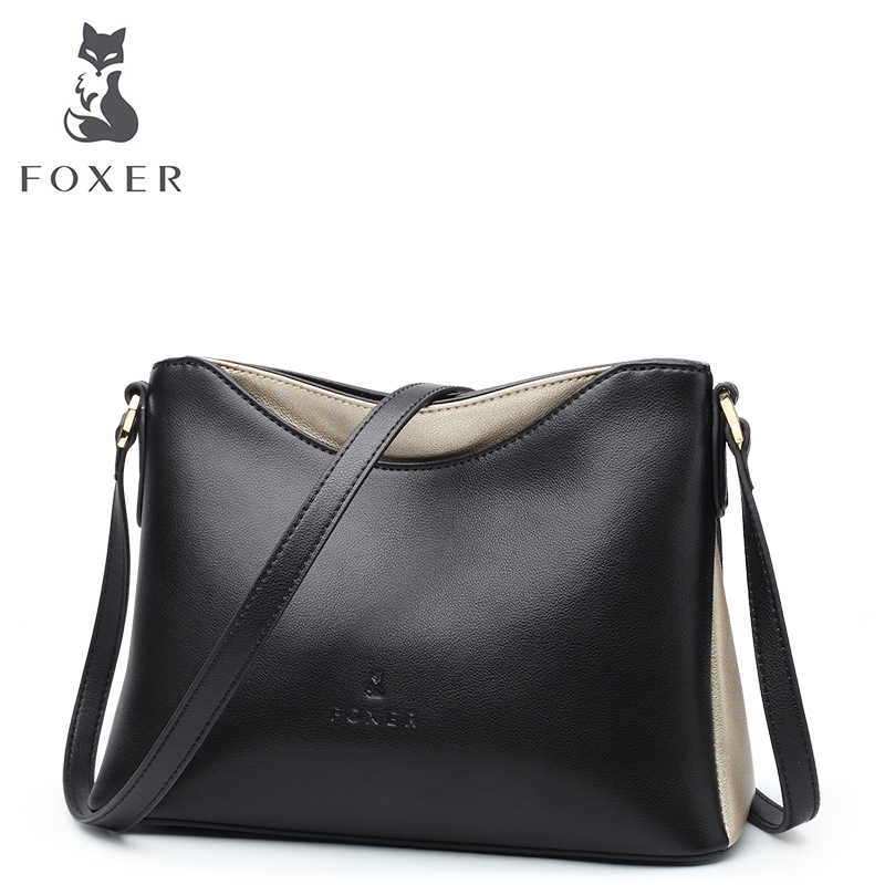 ce2419afbf8 FOXER Women Leather Crossbody Bag & Shoulder Bags Classic Messenger Bags  Fashion Lady HandBags Lady High