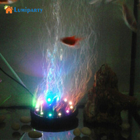 Lumiparty Multi Color Changing Underwater Submersible Aquarium Bubble Light 12 LEDs Air Bubble Lamp Round Shape
