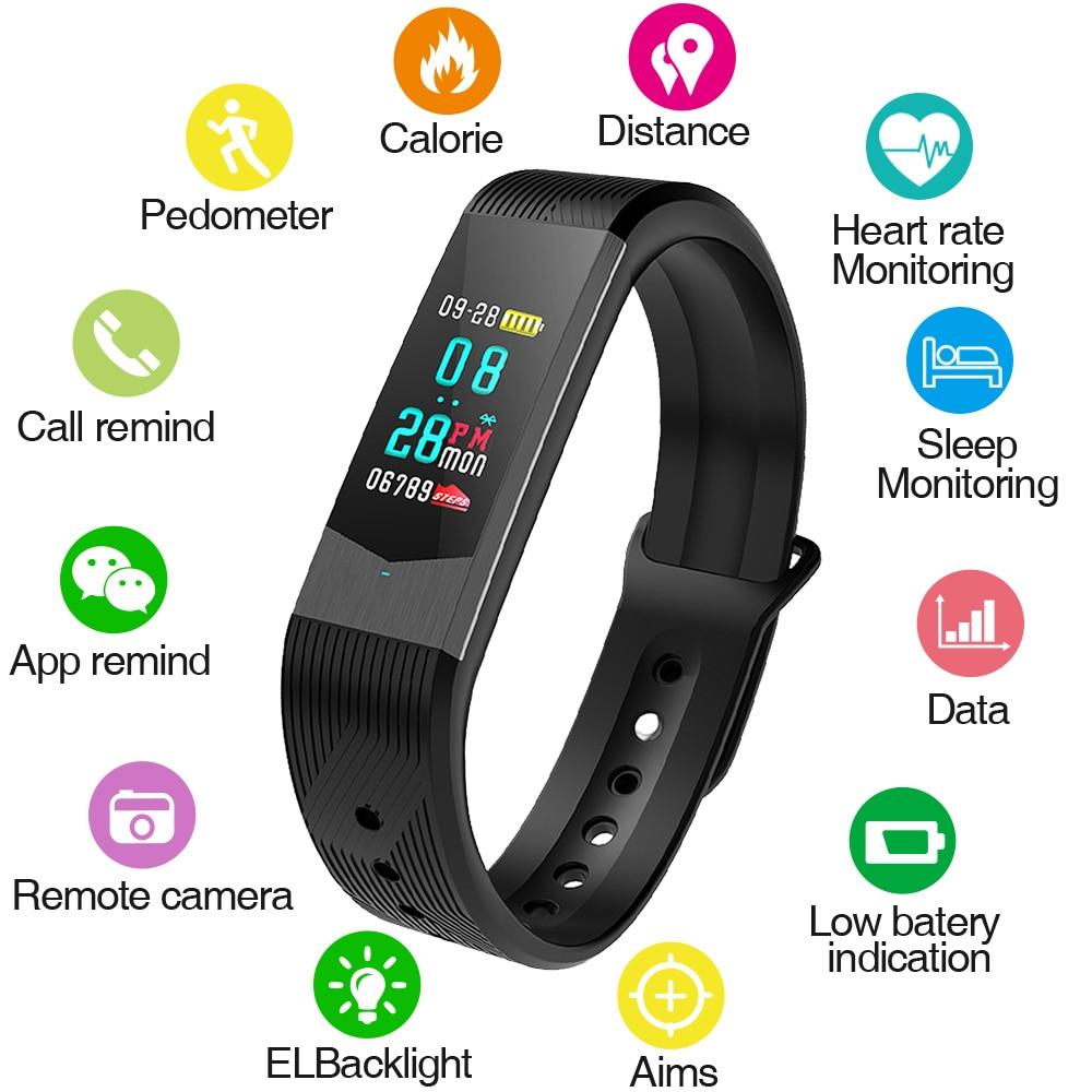 SKMEI Fitness Femmes Montre Smart Watch Hommes Bluetooth Fréquence Cardiaque Sang Pression Podomètre Horloge LED Sport Montre Pour Android IOS B30