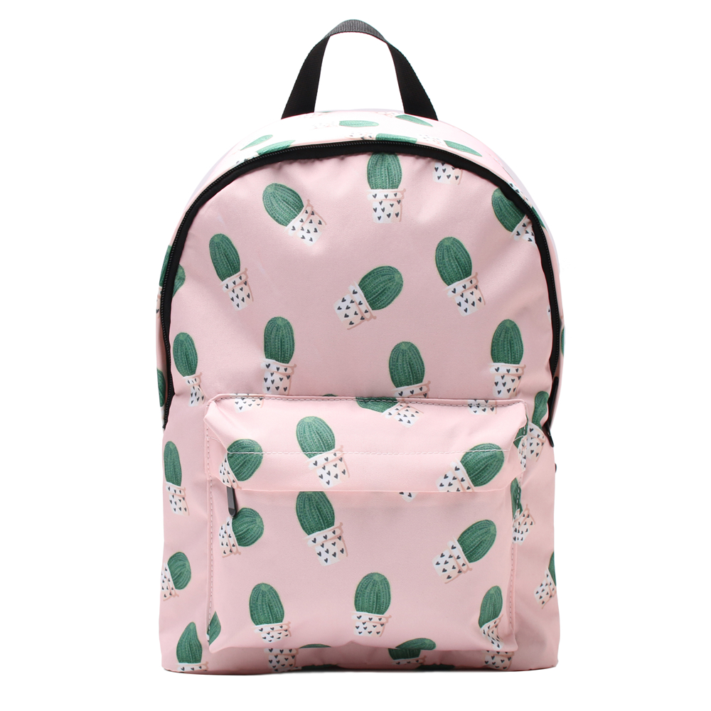 Deanfun 3PCS set Cactus Pink Backpack Cute 3D Printed Girls Shoulder Schoolbags in Backpacks from Luggage Bags