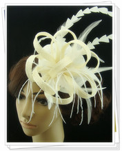 Free shipping high quality fascinators/nice feather hair accessories/ sinamay hats/event headwear FS119